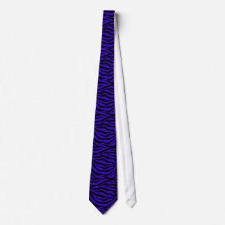 Listras da zebra no preto na gravata azul escuro d