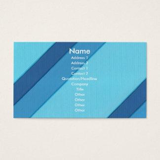 Listras diagonais azuis, cartões de visitas