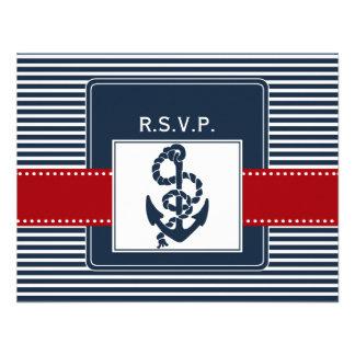 listras do marinho, âncora, rsvp náutico do casame convites personalizado