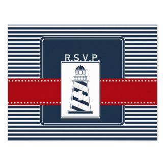 listras do marinho, rsvp náutico do casamento do f convite