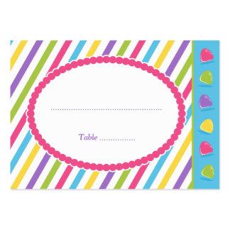 Listras dos doces cartão de visita grande