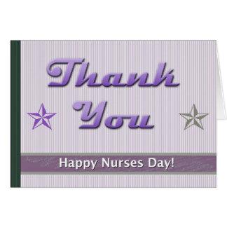 Listras felizes do roxo do dia das enfermeiras cartão