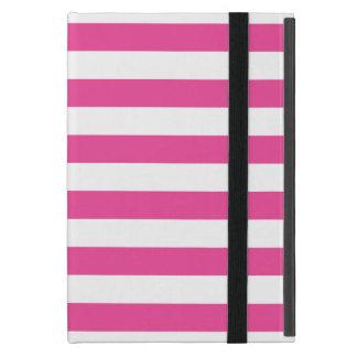 Listras horizontais cor-de-rosa iPad mini capas