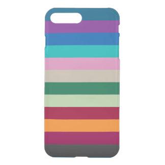 Listras horizontais em cores da queda capa iPhone 7 plus