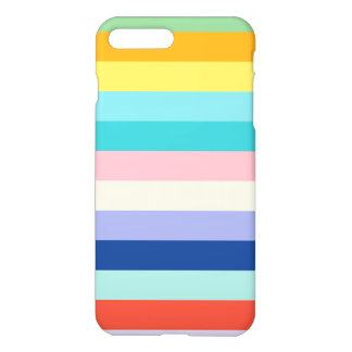 Listras horizontais em cores do primavera capa iPhone 7 plus