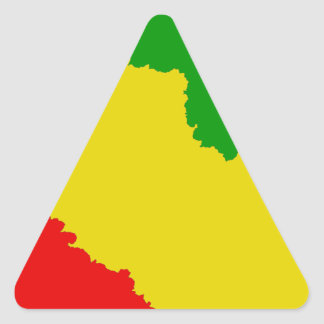 Listras irregulares de Rasta Adesivos Em Forma De Triângulo