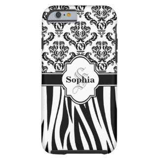 Listras legal da zebra do damasco do vintage capa tough para iPhone 6