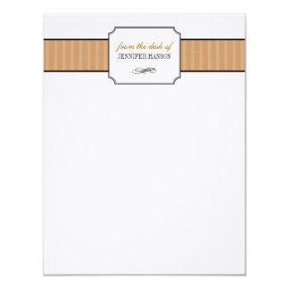 Listras marrons clássicas da mesa dos artigos de convite 10.79 x 13.97cm