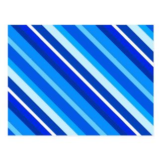 Listras mergulhadas dos doces - cobalto e azul cartão postal