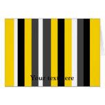Listras pretas amarelas modernas das cinzas e do b cartão
