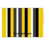 Listras pretas amarelas modernas das cinzas e do b cartões