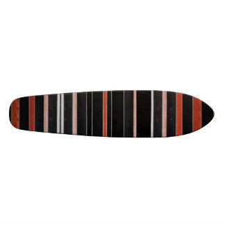 Listras PRETAS da beleza Shape De Skate 18,4cm