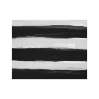 Listras pretas e cinzentas impressão em canvas