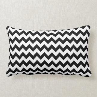 listras preto e branco elegantes da viga travesseiros de decoração
