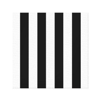 Listras preto e branco impressão em tela
