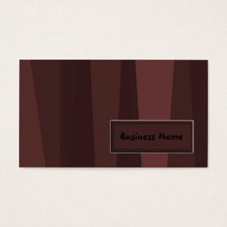 Listras retros de Brown Cartão De Visitas