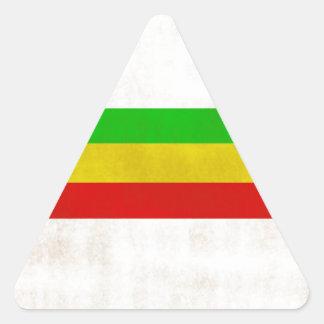 Listras sujas de Rasta Adesivos Em Forma De Triângulo