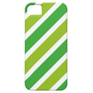 Listras VERDES retros Capa Barely There Para iPhone 5