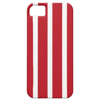 Listras VERMELHAS retros Capa Barely There Para iPhone 5
