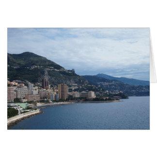 Litoral de Monte - de Carlo Cartão De Nota