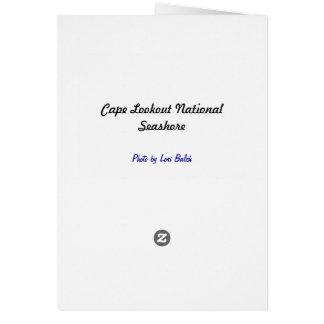 Litoral do nacional da vigia do cabo cartão de nota