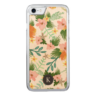 Litoral floral capa iPhone 7 carved