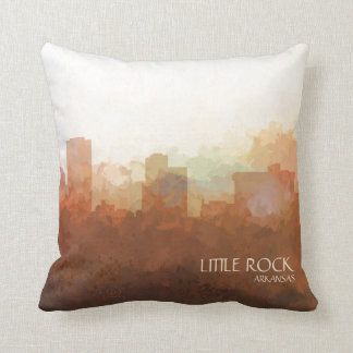 Little Rock, Arkansas Skyline-nas nuvens Almofada