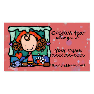LittleGirlie promove seu negócio da limpeza! Cartão De Visita