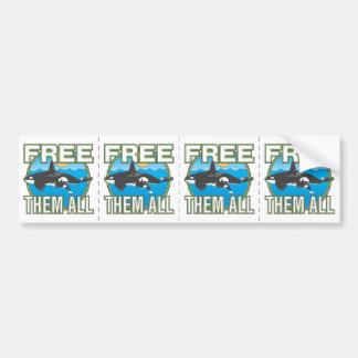 Livre-os todos (as baleias) adesivo para carro