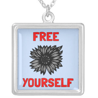 """""""Livre você mesmo"""" colar da prata esterlina"""