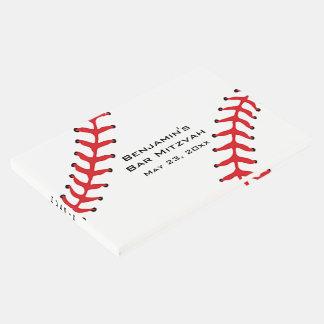 Livro de hóspedes do design do softball do basebol