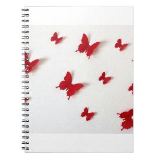 livro de nota vermelho cadernos