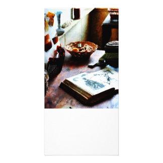 Livro de teste padrão cartoes com fotos personalizados