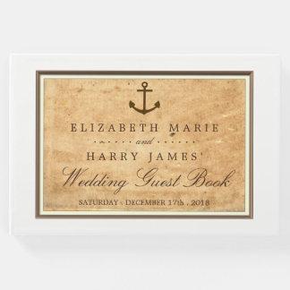 Livro De Visitas Âncora náutica casamento de papel quadro do