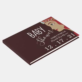 Livro De Visitas Chá de fraldas da princesa Vermelho