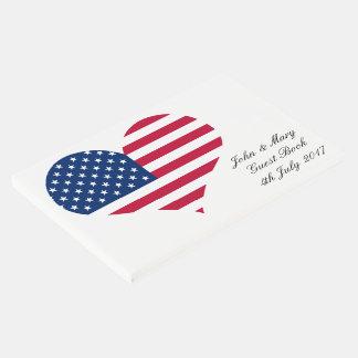 Livro De Visitas Coração americano dos EUA da bandeira de América