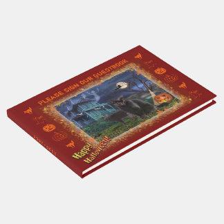 Livro De Visitas Gatos do Dia das Bruxas