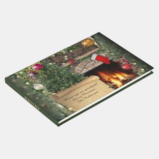 Livro De Visitas Lareira do Natal (customizável)
