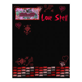Livro do amor SpellPage das sombras para o país Papel Timbrado