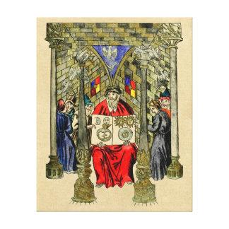 Livro medieval da alquimia impressão em tela
