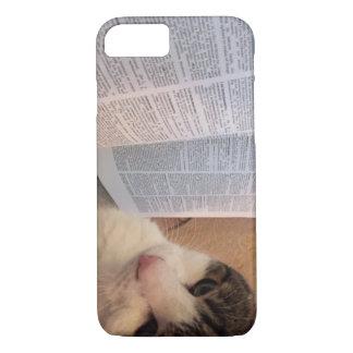 Livros e capa de telefone dos gatos
