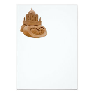 Lixe a escultura de Taj Mahal por Sudarsan Convite 12.7 X 17.78cm