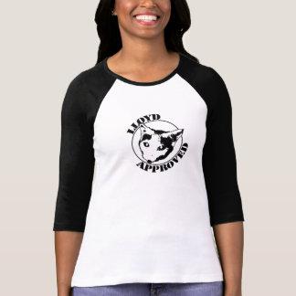 Lloyd aprovou - a 3/4 de luva das mulheres tshirts