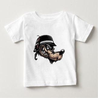 Lobo dos desenhos animados camiseta para bebê