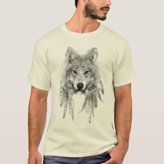 Lobo no t-shirt nativo do roupa