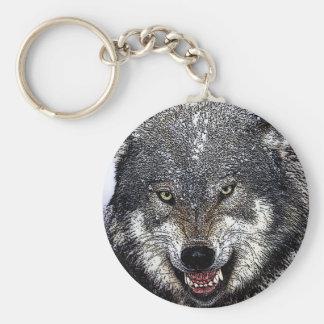 Lobo selvagem chaveiro