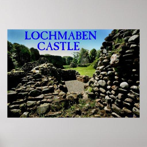 lochmaben o castelo impressão