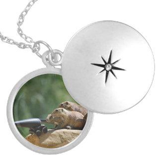 Locket dos soldados de cão da pradaria bijuterias personalizadas