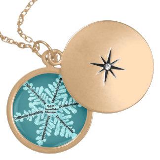 Locket Goldtone da consciência de Gravis da Colar Medalhão