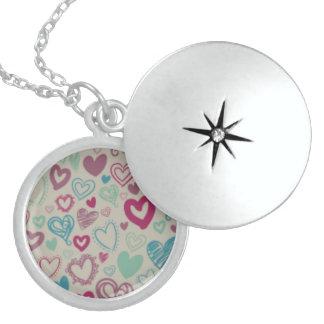 Locket redondo da prata esterlina de Colorfull Colar Medalhão